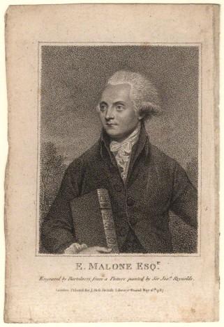 NPG D5194; Edmund Malone by Francesco Bartolozzi, after  Sir Joshua Reynolds