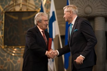 """Jim Callery of Strokestown Park in May 2017, collecting his EU Prize for Cultural Heritage / Europa Nostra Award - Europe's top honour in the field - during a high-profile event at St. Michael's Church in Turku, Finland. Maestro Plácido Domingo, President of Europa Nostra, the leading heritage organisation in Europe, and Tibor Navracsics, European Commissioner for Education, Culture, Youth and Sport, co-hosted the European Heritage Awards Ceremony."""" Jim Callery won the award for """"restoration and establishment of the world renowned Irish National Famine Museum & Archive which has been the largest act of private philanthropy for cultural heritage in the history of modern Ireland"""". Mr Callery's award is in the Category """"Dedicated Service"""". http://www.irishheritagetrust.ie/jim-callery-awarded-eu-prize-cultural-heritage/"""