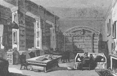 Library_at_Edgeworthstown_House_1888